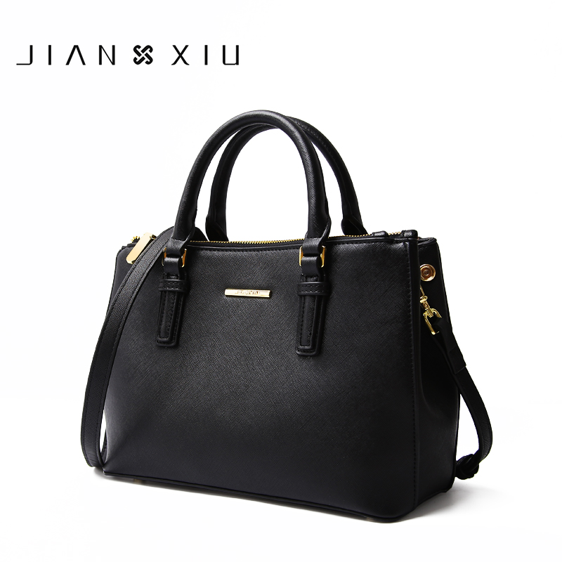 JIANXIU Brand Genuine Leather Handbag Luxury Handbags Women Bags Designer High Quality Cross Texture Tote 2018 Big Shoulder Bag