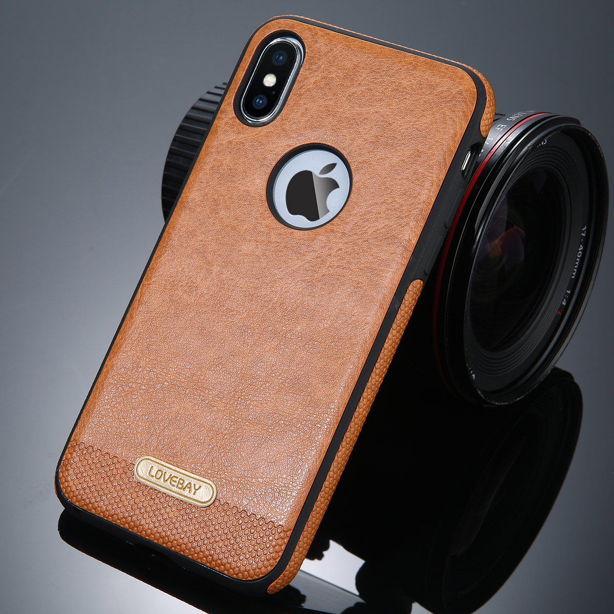 Lovebay Business PU Leather Phone Case For Iphone XS X 5 5S 6 6S 7 8 Plus Splice Ultra-thin Luxury Phone Protector Back Cover