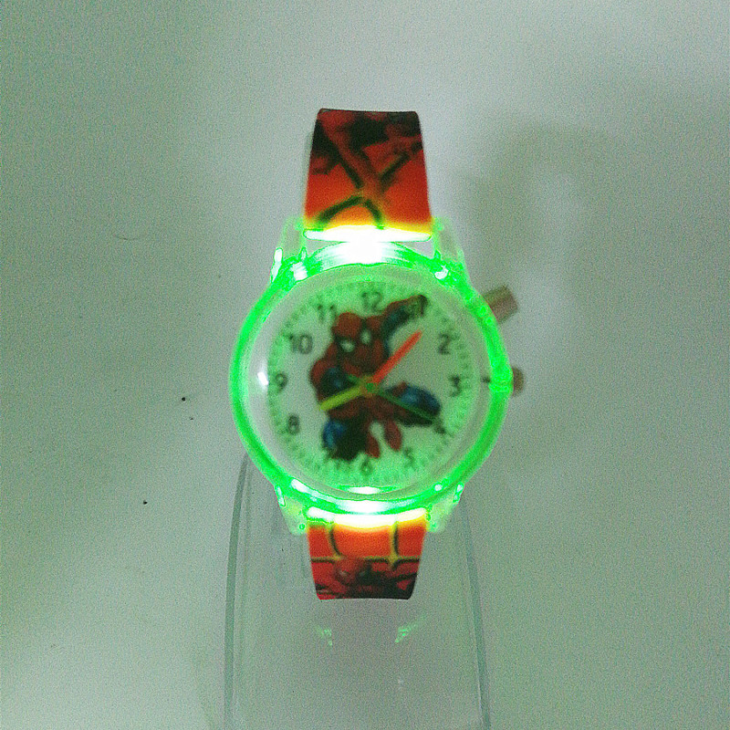 Spiderman Children Watches Cat Cartoon Electronic Colorful Light Source Child Watch Girls Birthday Party Kids Gift Clock WristSpiderman Children Watches Cat Cartoon Electronic Colorful Light Source Child Watch Girls Birthday Party Kids Gift Clock Wrist