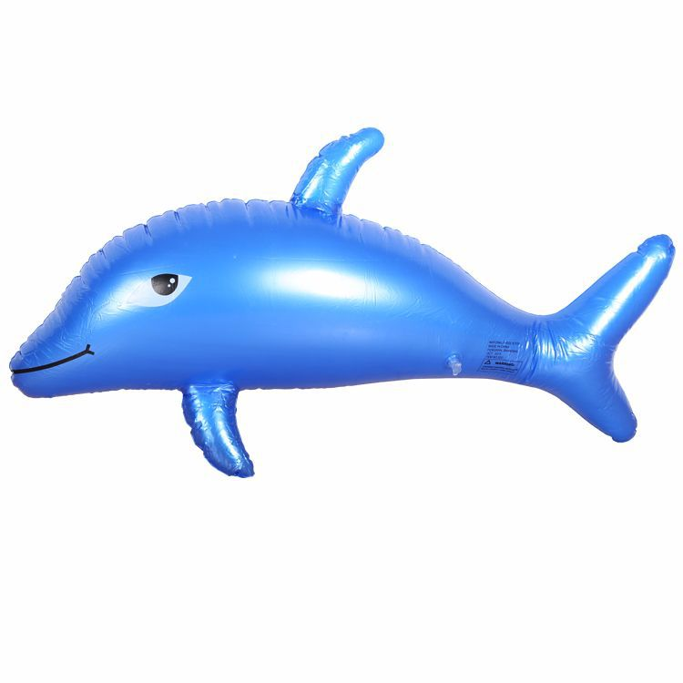 100*50cm Inflatable Ride-ons Dolphin Water Toy Pool Rafts Swim Leanring Tool Floating Kids Adults Swim Pool Rafts