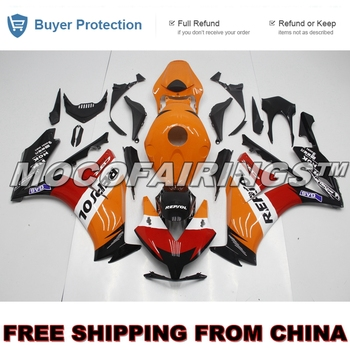 100% Fitment Fairing For Honda CBR1000RR 2012 2013 2014 Injection Motorbike ABS Plastic Mold Fairings Kits ORANGE REPSOL