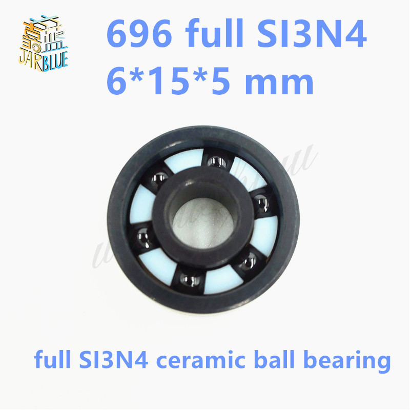 Free Shipping si3n4 696 619/6 bearing 6*15*5 mm Full SI3N4 ceramic ball bearings free shipping 697 619 7 7x17x5 mm full zro2 ceramic ball bearing