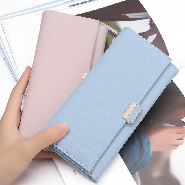 Cartera de mujer de embrague de cartera con cremallera femenino damas caliente Cambio de lujo de las mujeres de crédito titular de la tarjeta de teléfono monederos para las niñas