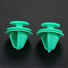50Pcs Nylon Decorative Clip Green Automobile Interior Car Door Fixed Fastener Fit For Mercedes Benz Peugeot 207 307 206