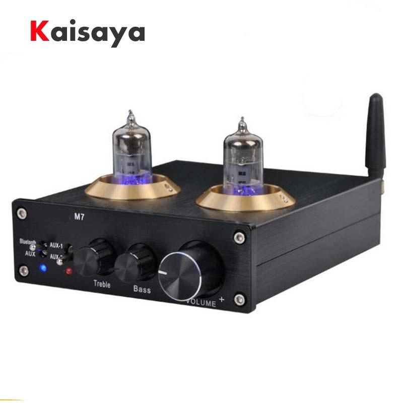 M7 tube 6J1 pre-bile audio bass adjustment HiFi ESS9023 wireless Bluetooth 4.0 audio receiver converter decoder for amplifier
