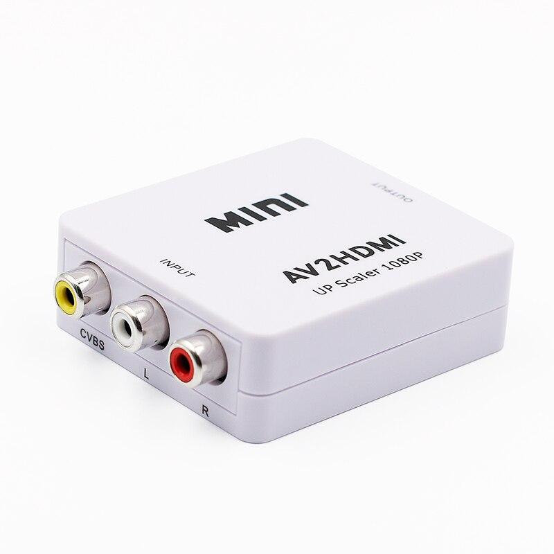 AV2HDMI RCA AV To HDMI Adapter Mini HD Video Converter Box RCA CVSB L/R AV to HDMI Converter Adapter 1080P Support NTSC PAL
