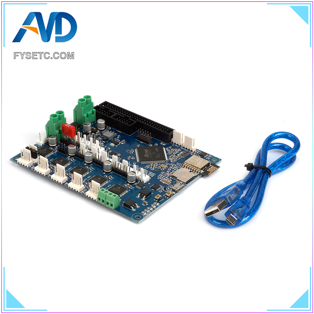 Duet 2 Wifi V1.03 Upgrades Controller Board Cloned DuetWifi Advanced 32bit Motherboard For BLV MGN Cube 3D Printer CNC MachineDuet 2 Wifi V1.03 Upgrades Controller Board Cloned DuetWifi Advanced 32bit Motherboard For BLV MGN Cube 3D Printer CNC Machine