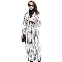 Из натуральной кожи куртка Для женщин Осенне зимнее пальто женская одежда 2018 дубленка корейский Chaqueta Mujer длинные пальто ZT878