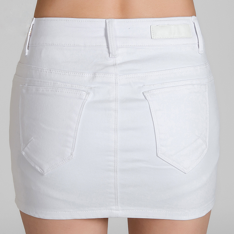 White Denim Skirts - Skirts
