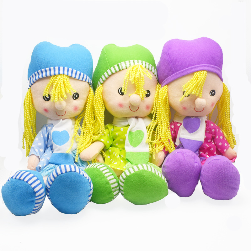 38CM Kawaii Ragdoll Stuffed Plush Kids Toys for Girls Children,Cute Educational Plush Doll Toy for Pretend Game Wedding Rag Doll