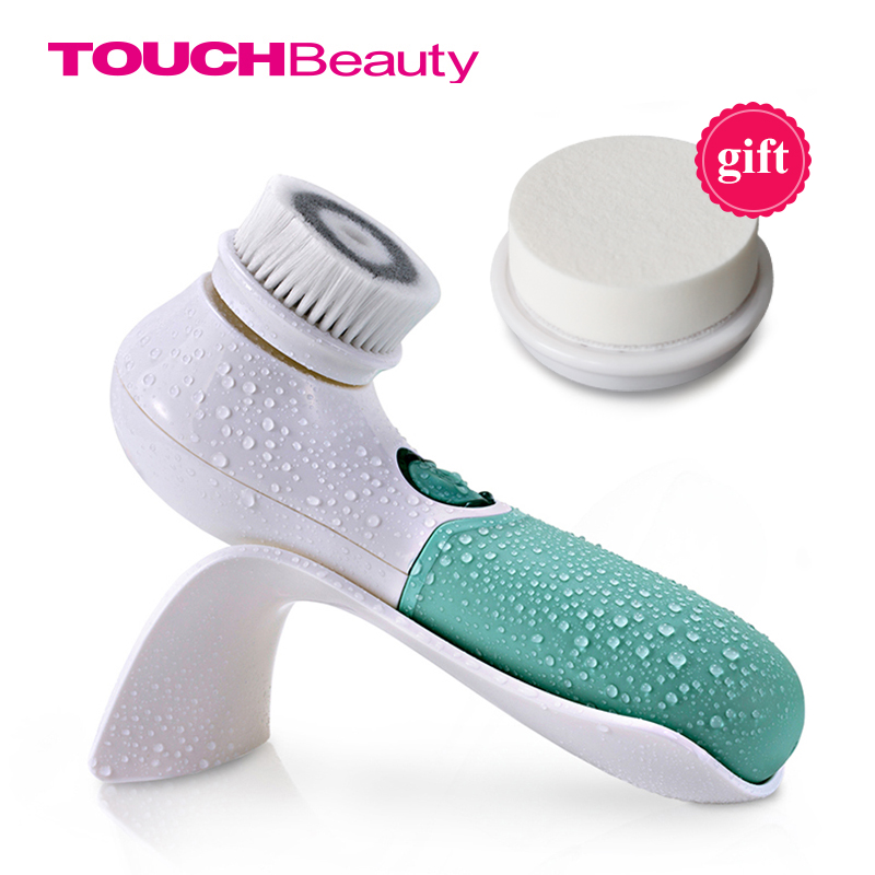 TOUCHBeauty 360 Rotary Facial Cleansing Brush with Dual Speed, Waterproof, Silky-soft bristles,Face Exfoliating Cleanser TB-1483 touchbeauty 3 in1 rotating facial cleansing brush set with 3 replacement brush heads 2 speed settings with storage box tb 0759a