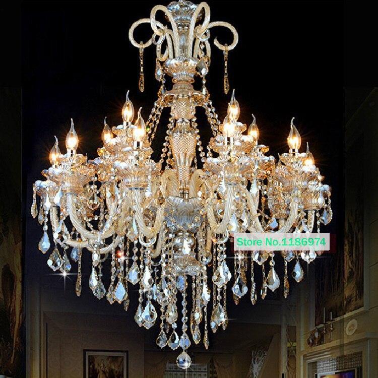 Led Lamps Modern Crystal Chandelier Lighting Furniture Big Candelabra Chandeliers Hanging Lighting Wrought Iron Candle Lighting