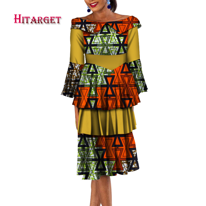 Fashion Summer african dresses for women 2019 multilayer dress african print cotton clothing for women african dress WY4717 in Africa Clothing from Novelty Special Use
