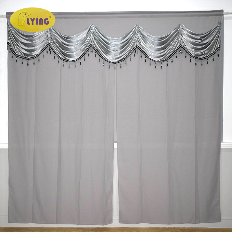 Flying Tassels European Royal Luxury Valance Curtains for Living Room Window Curtains for Bedroom Valance Curtains for the hall