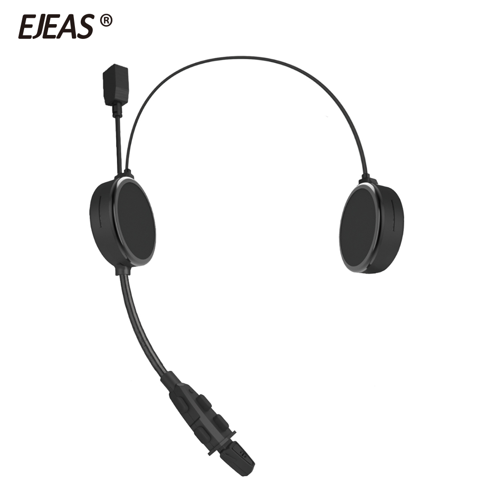 EJEAS E300 Bluetooth 4.2 Motorcyclist Helmet Headset Intercom Headphone AUX 40mm Speaker 2 Mobile Devices Connection