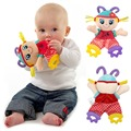 Bebé Infantil Lindo de la Felpa Juguete Apaciguar Toalla Comodidad con el Papel de Sonidos y Mordedor Suave Chica Playmate Juguete Relleno Muñeca Calma