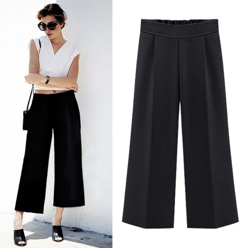 Summer Plus Size M-4XL 5XL 6XL Women Casual Loose Harem Pants Wide Leg Palazzo Culottes Stretch Trouser Female Clothing