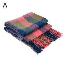 Christmas gift, Men Wool Tartan Winter Scarf Women European Desigual Scarf Plaid Thick Brand Shawls and Scarves ,NL-2167