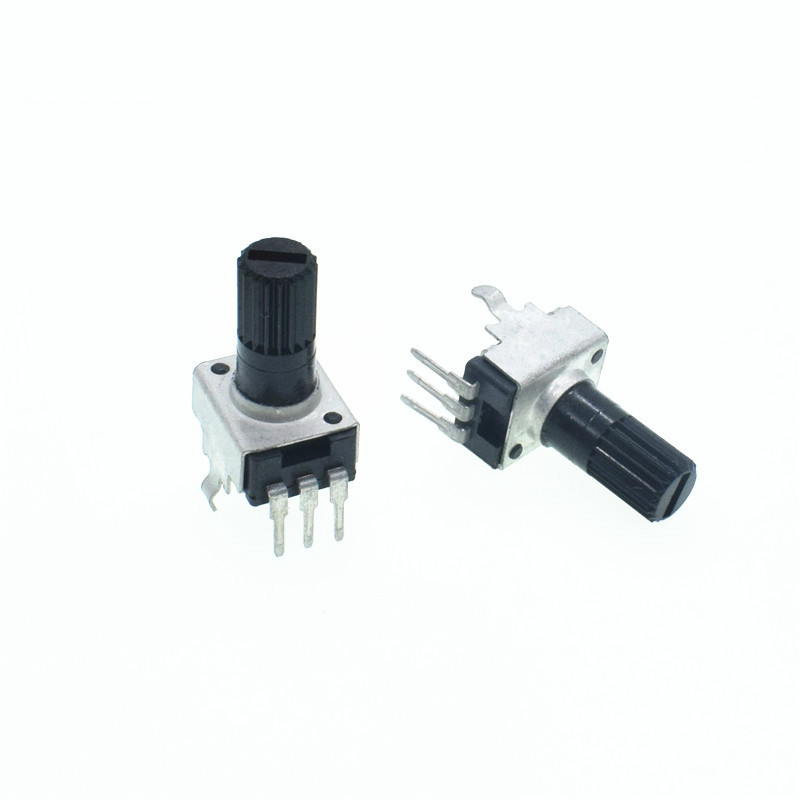 10pcs RV09 Vertical 12.5mm Shaft 5K 10K 50K 100K 0932 Adjustable Resistor 9 Type 3Pin Seal Potentiometer