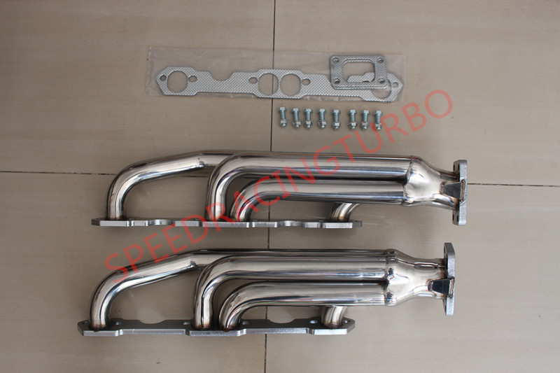 FOR CHEVY SBC 283/327/350/400 T3 RACING PERFORMANCE TWIN TURBO MANIFOLD EXHAUST|exhaust twin|exhaust manifold|exhaust turbo manifold - title=