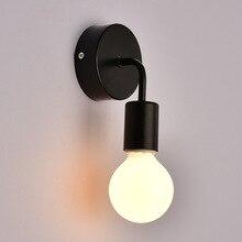 Lámpara de pared nórdica iluminación de pared industrial Led luz de noche Vintage luces de tocador modernas para escaleras pasillo de dormitorio