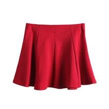d959986b80 Falda del soplo de la Moda de Verano Mujer Ropa Casual de Color Sólido Sexy  señoras Saia Midi Oscilación Grande vestido de Bola .