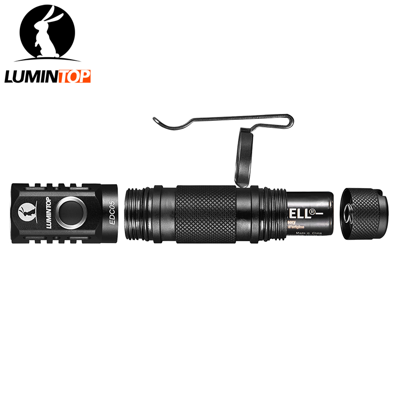 Image 3 - LUMINTOP EDC flashlight 800 Lumens Cree XP L Led Mini Flashlight EDC05 with Magnetic Tail Power by AA/14500 Battery IP68 protect-in LED Flashlights from Lights & Lighting