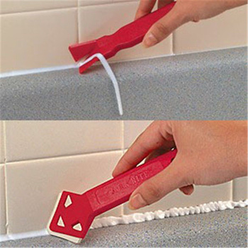 Tile Caulk Cleaner Plastic Professional Caulk Away Remover and Finisher Made by Builders Choice Tools Limited Bulider Tools Putty Knife
