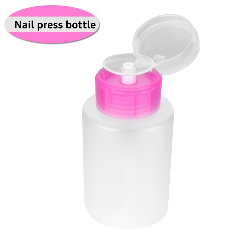 1Pcs Empty Clear Pump Dispenser Perfume Bottle Container For Acetone Polish Remover Alcohol Liquid Essential Oil Travel Bottle