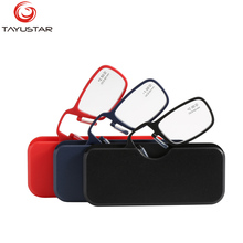 cf0642035d5901 Meeshow TIIYUSTAR Mini Reading Glasses Nose Clip on card Optical Portable  Wallet