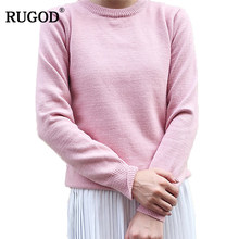 5b874a6532f Rugod Autumn Women Cashmere Sweaters Casual Slim Tops Blouse Sweater Outfit  Jumper Pullover 2016 Winter Sweter