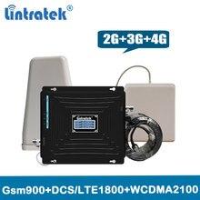 2g 3g 4g triplo banda repetidor 900 1800 2100 mhz impulsionador de sinal gsm 900 lte 1800 3g 2100 antena amplificador de sinal móvel conjunto @ 5