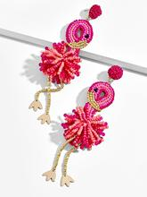 Girlgo Bauble Bar Newest Design Handmade Beads Flamingo Fantasia Drop Earrings For Women Charm Pendant Statement Earring Jewelry