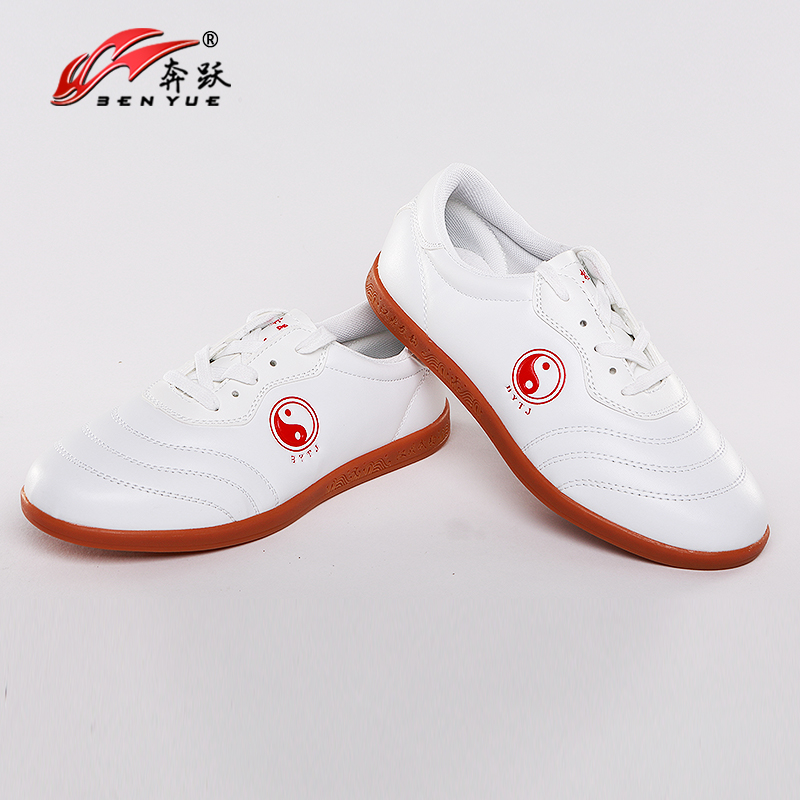 Chinese Wushu Shoes Tai Chi Shoes Leather Kungfu Taiji Practice/Cow Muscle Soles/for Men And Women/Wu Embroidery Taekwondo Sport
