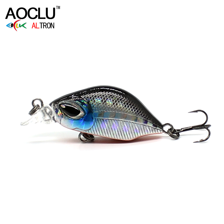 AOCLU Wobblers 6 Colors 3cm 3.0g Sinking Hard Bait VIB Minnow Crankbait Fishing Lures Bass 14# VMC Hooks Tackle Free Shipping