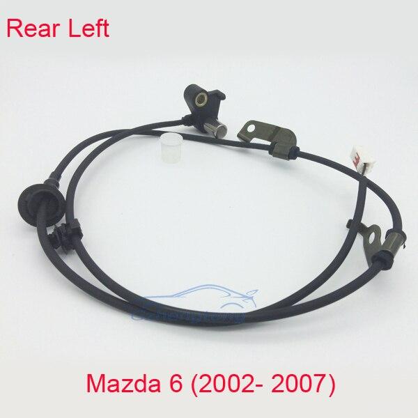 Anti Lock Brakes ABS Wheel Speed Sensor Left Rear for Mazda 6 02- 07 NSR New P/N GJ6A4372YB GJ6A-43-72 GJ6A-43-72YA/GJ6A-43-72YC