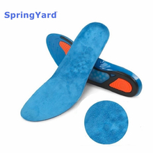 SpringYard Gel Shock Absorption Sport Insoles Shoe Pad Cushion Massaging Running Basketball Newest for Woman Men цена
