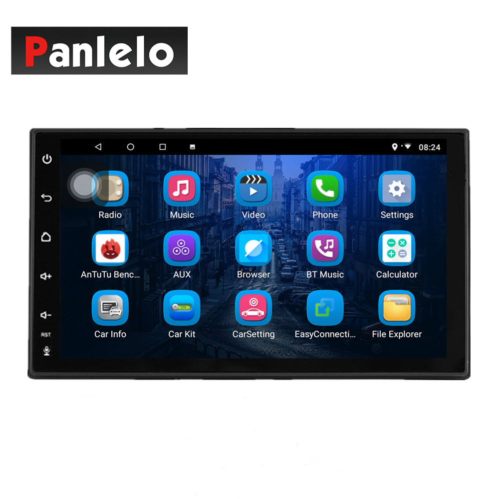 S4 Max Panlelo 1 Din Car Stereo Octa Core 4G RAM 32G ROM Android 8.1 GPS Navigation Auto Radio Bluetooth Mirror Link Music Video image