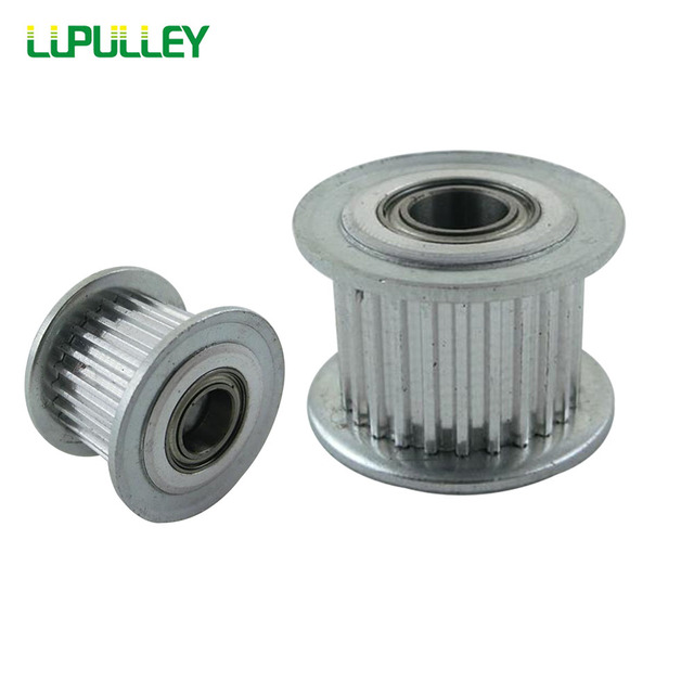 lupulley mxl timing belt idler pulley 20t bore 3mm 4mm 5mm withlupulley mxl timing belt idler pulley 20t bore 3mm 4mm 5mm with bearing 3d printer for 20 teeth timing belt 2pcs lot