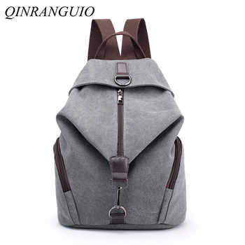 QINRANGUIO Women Backpack Fashion Canvas Backpack Large Capacity School Bags for Teenage Girls Backpack Female Backpack Women - DISCOUNT ITEM  45% OFF All Category