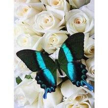 Yikee Алмазная картина полные бабочки вышивка полностью квадратные