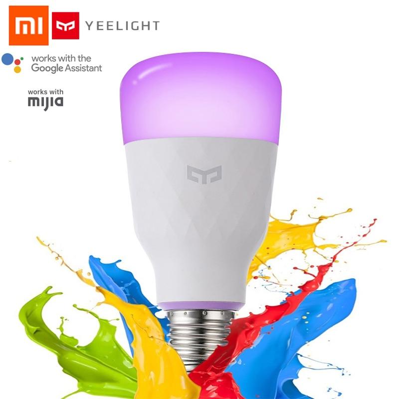 New Update Version Xiaomi Yeelight Smart LED Bulb E27 10W 800lm WIFI Bulb For Desk Lamp Bedroom Via App Remote Control White/RGB