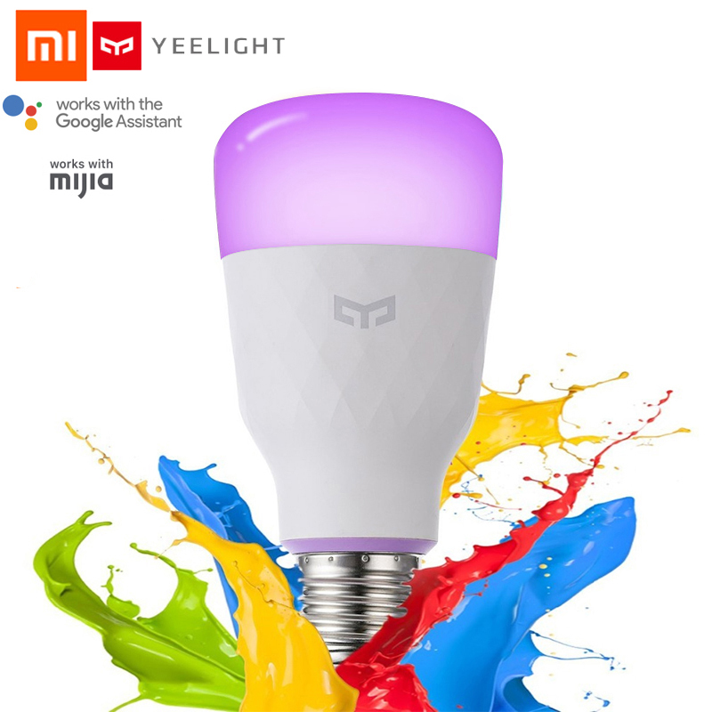 New Update Version Xiaomi Yeelight Smart LED Bulb E27 10W 800lm WIFI for Desk Lamp Bedroom Via App Remote Control White/RGB