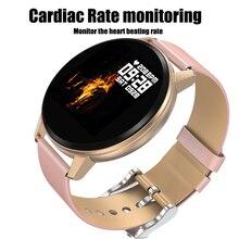 Bracelet intelligent N58 1.22 pouces rond écran tactile Fitness montre lecteur de musique avec surveillance de la fréquence cardiaque détection de la pression artérielle