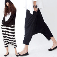 Women Tracksuit For Women Skirt Low Crotch Haroun Harem Pants Cropped Baggy Hip Hop Striped Unique