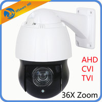 4.5'' 36X ZOOM 4in1 AHD/TVI/CVI/CVBS SONY 323 1080P 2.0MP PTZ Speed Dome IR Camera IR distance 100 150M 6 pcs LED+3pcs Laser+IR