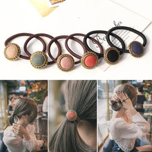Горячая 1 шт. женский сладкий Красочный волос Веревка высокая эластичная резиновая лента для волос аксессуары