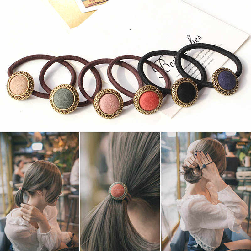 Hot Sale 1pc Women Sweet Colorful Hair Rope High Elastic Rubber Hair Band Accessories