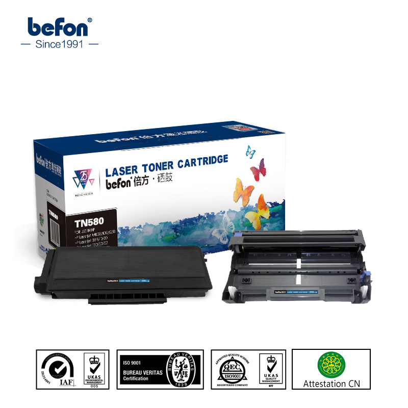 befon Black for Brother TN580 DR580 580 Toner Cartridge TN650  650 Compatible for TN3170 3175 3185 TN37J 2000 Pages 3170 3175