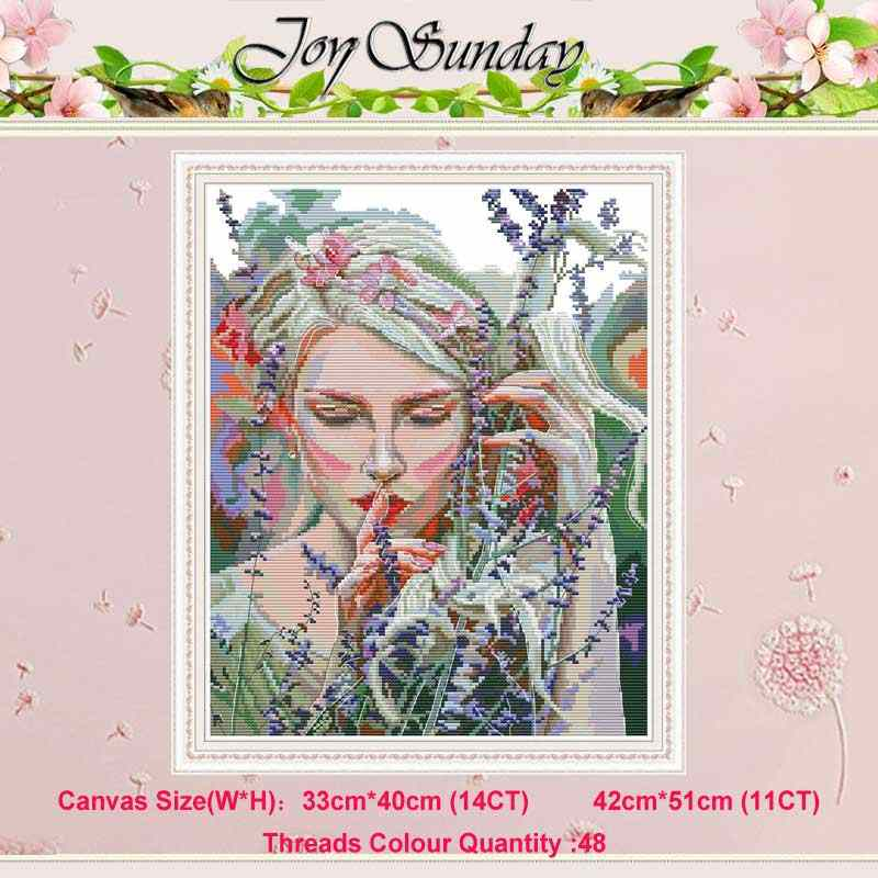 Listen to the quiet beauty ounted 11CT 14CT Cross Stitch Set DIY DMC Chinese Cross-stitch Kit Embroidery Needlework home decor